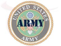 image showing text Army and US Army seal
