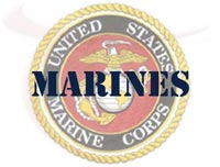 image showing text Marines and US Marine Corps seal