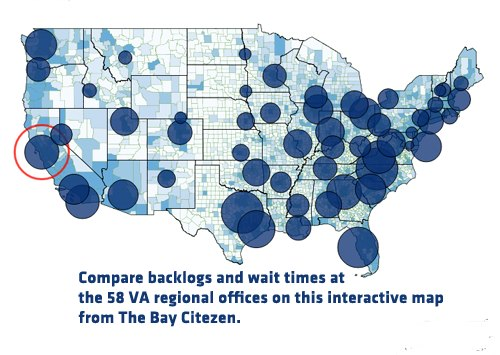 image for Compare VA Backlogs and Wait Times on Interactive Map